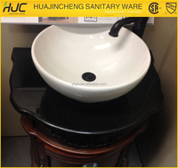 HJC-153 ceramic lowes bathroom countertop round sink