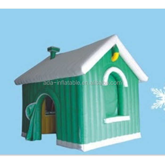 Holiday Promotional Advertising Giant Customized Green House Tent Inflatable For Christmas Santa Claus A120