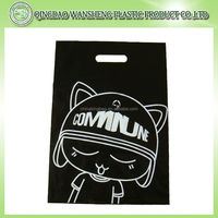 sale promotional printed die cut Plastic bag shopping bag with patch handle