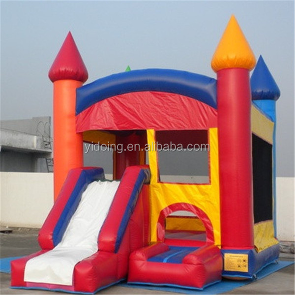 Colorful crayon castle house inflatable bouncer slide, two in one kids inflatable bouncer slide B3062
