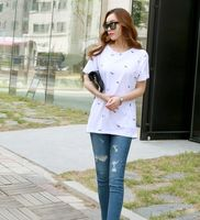 newest style casual white t-shirt cool fashion girls t shirt printing