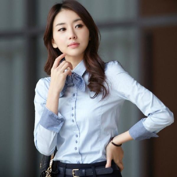 Venta al por mayor modas de blusas para uniformes de oficina ...