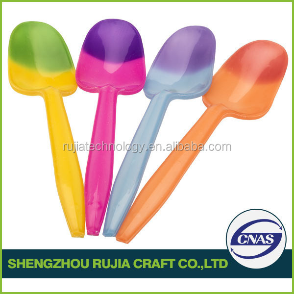 Changing color plastic spoon color changing spoon