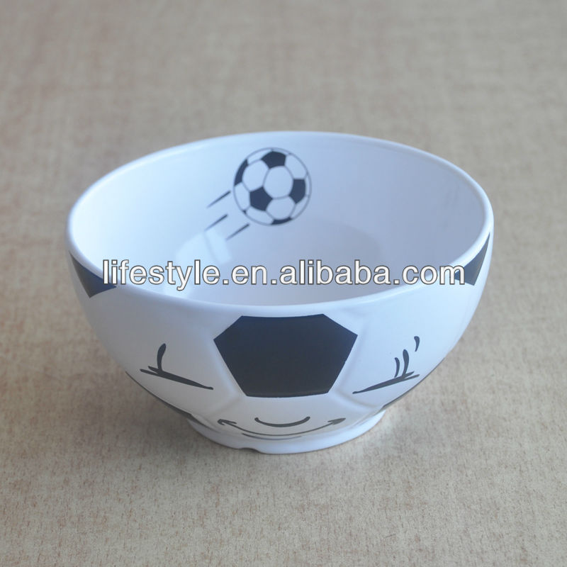 "6"" Decaled Ceramic Football Shape Bowl"