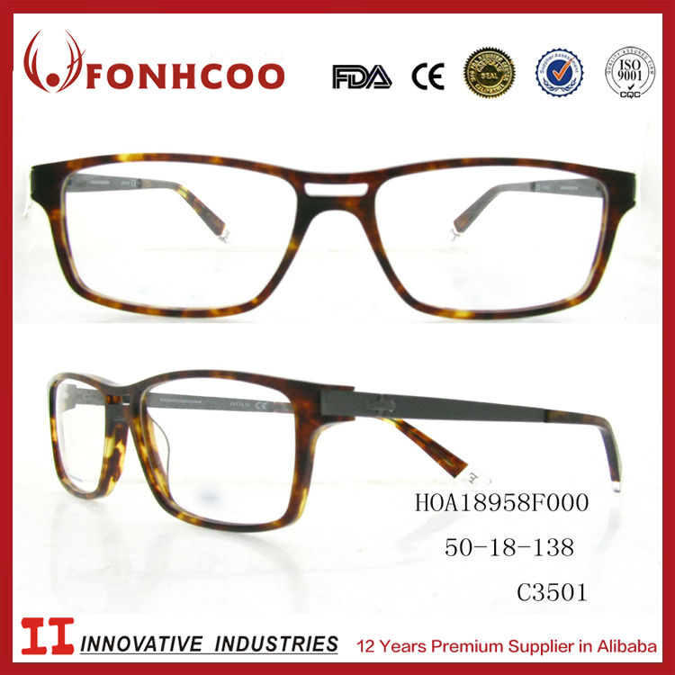 FONHCOO All Face Shape Match Professional Classical Acetate Lady's Rubber Eyeglass Frames