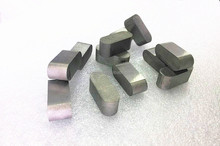 Tungsten carbide weld on tips for mining tool parts