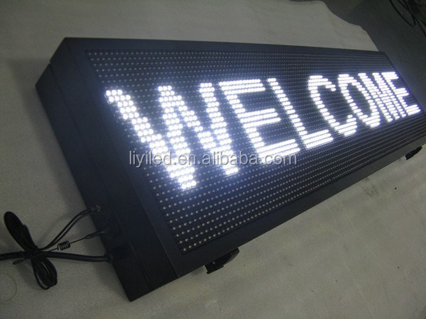 P10 White Programmae LED scrolling message sign / led moving message billboard / outdoor led display screen