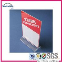 Acrylic Slanted Table Tent Menu Stands Card Sign Price Tag Holder