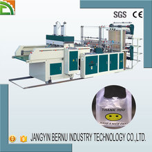 Automatic punching Two Line T-shirt Bag Making Machine