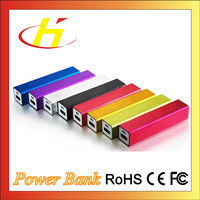2016 Customized Unique Metal Real Capacity 2200mAh Polymer Battery Lipstick Power Bank