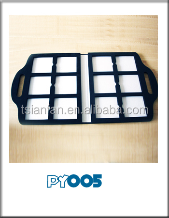 customized plastic stone ceramic tile sample book with handle -PY005