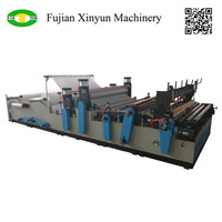Automatic sanitary tissue roll embossed rewinding toilet paper industry machine