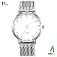 Mesh band best selling men 3 atm water resistant 316l stainless steel slim watch