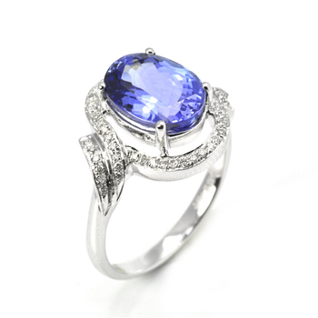 New Value 925 Silver Jewelry Ring With Natural Gemstone Tanzanite