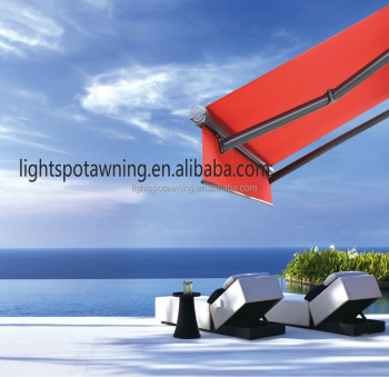 Rocker arm awning windows