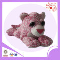 big eyes pink spotted leopard plush toy/soft toy
