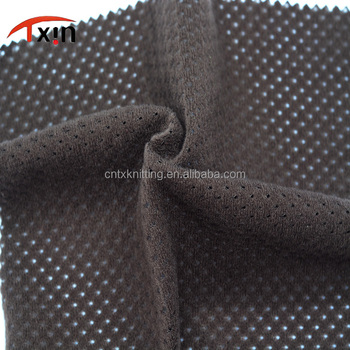 Factory direct mesh+brushed fabric for outdoor sportswear, breathable knitting mesh fabric