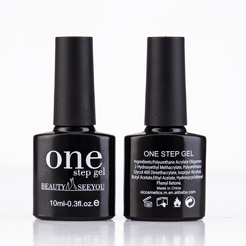 Factory price one step uv gel,beauty seeyou free sample 3 in 1 move off nail gel polish