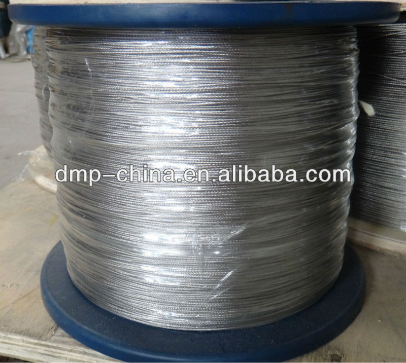 7x7-1.5mm AISI304 inox steel wire rope