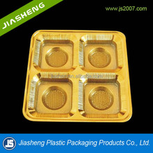 vacuum forming food product / golden yellow cake / mooncake / biscuit blister plastic tray