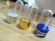 small single capsule packaging bottle/pill bullet/plastic shell/PS jar for power zen