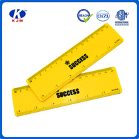 2016 hot sale promotional custom 15cm yellow plastic straight rulers for school kids