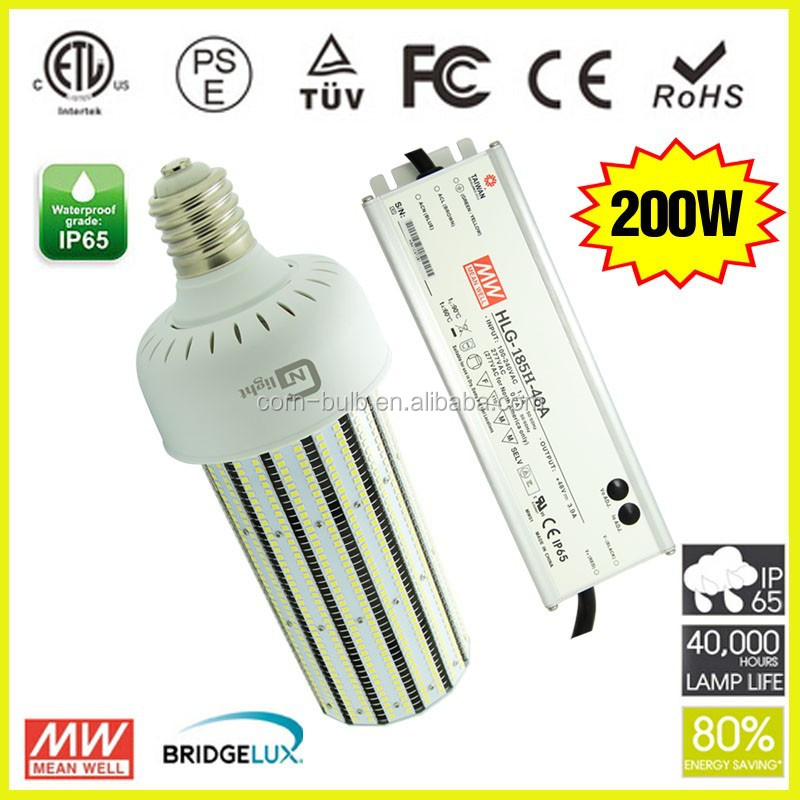 500W MH High pressure sodium mercury compact fluorecsent incadescent lamp light reftrofit LED light bulbs 200W