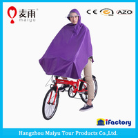Maiyu high quality PVC bicycle rain poncho