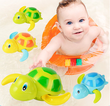 bath baby toys Cute Wind Up Swimming Turtle Tortoise Kids Bath Toy