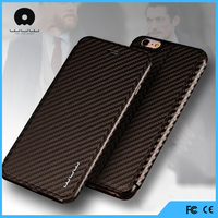 Ultra thin pu leather mobile phone flip case cover for iphone 6 6s