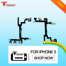 Power On/Off Mute Volume Button Switch control flex cable for iphone 5G 5c 5s 6plus 6s 6s plus