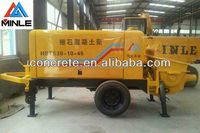 trailer pumping concrete machinery/pump delviery concrete for building construction Chinese factory alibaba supplier