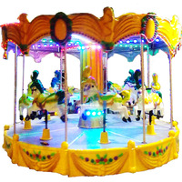 Video Available!!! DERUN RIDES 8 Seats Mini Horse Rides Carousel Circle Running Children Playing Indoor Playground Fun Equipment