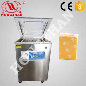 price for Wenzhou Hongzhan DZ400 2D 400mm stainless steel vegetables fruit meat food rice vacum packing machine