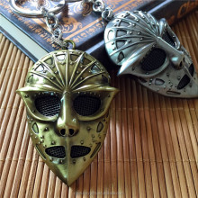 Antique zinc alloy metal wow game skull face mask keychain