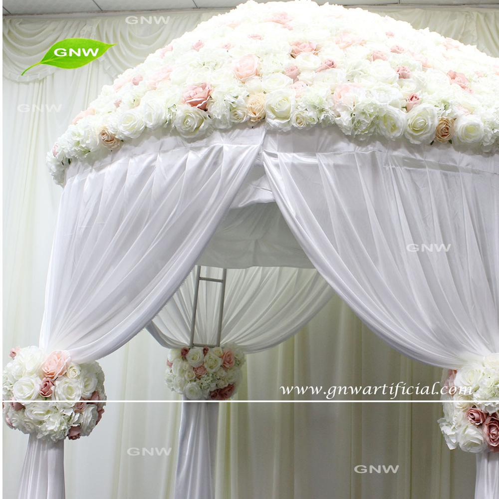 GNW Latest Idea Wedding Party Tent Garden Theme Flower Decoration Design