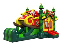 Christmas inflatable bounce house combo with slide for sale