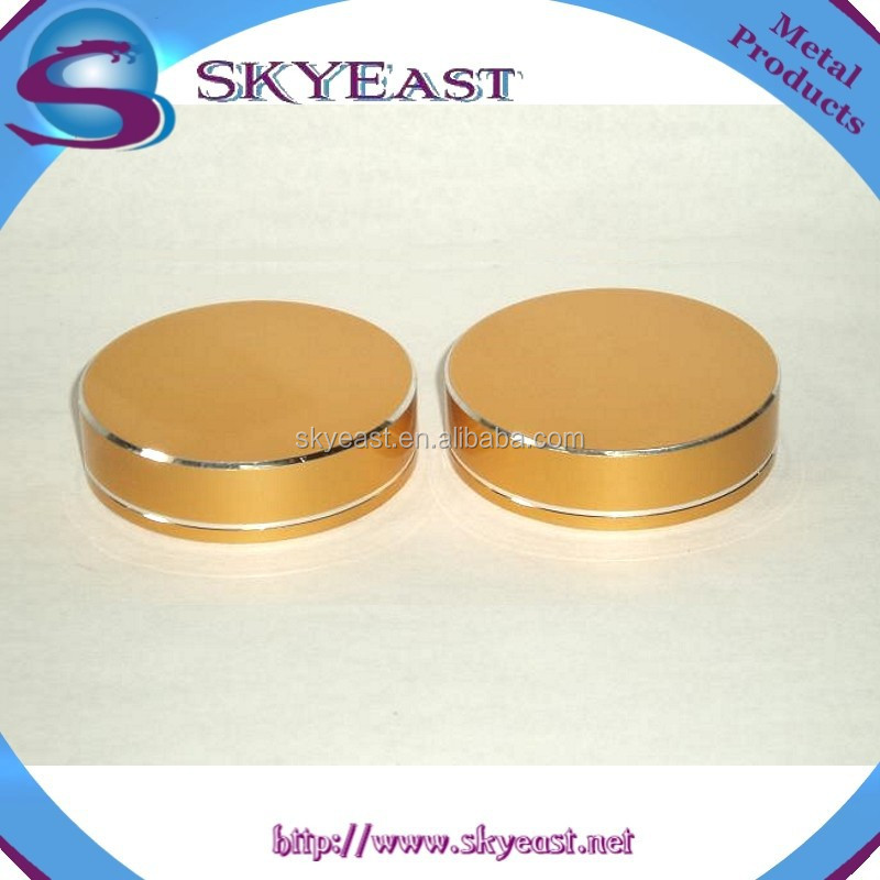 Special Gold Oxidation Aluminum Screw Caps with Plastic Insert