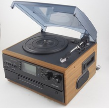 Antique customized stereo casstte tape USB SD player wooden radio cd player