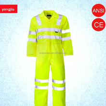 factory price Workwear,uniform,protective,safety,hi vis, coveralls with reflector