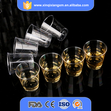 Wholesale custom made eco-friendly ps plastic cup disposable plastic wine tasting cup
