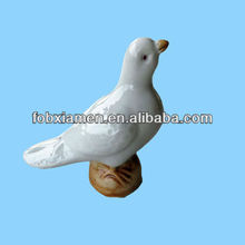 Vintage French White Ceramic Bird Figurine