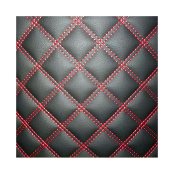 Embroidery Quilted Diamond Stitching PU PVC Synthetic Leather for Car Seat for Funiture