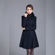 Wholesales Woman Formal Long Fish Tail Fashion Girls Winter Dress Coat