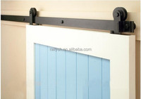 Ready to Ship 8ft Classic Sliding Barn Door Hardware Black Powder Coat