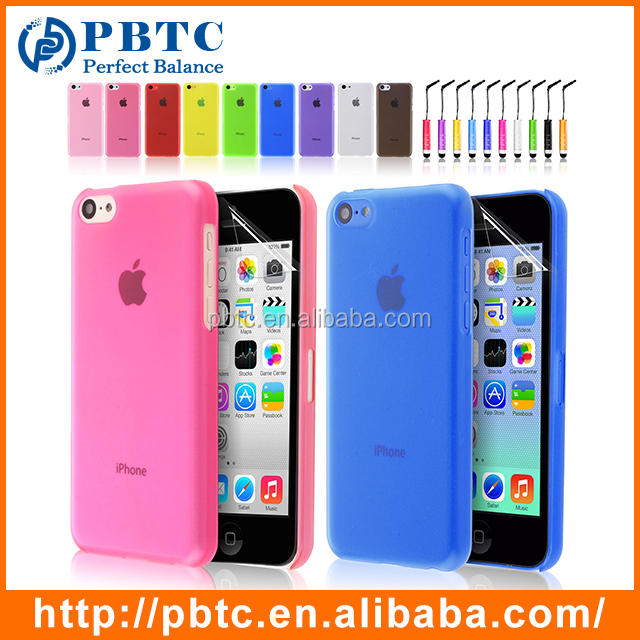 Newest 2016 Matte Slim Hard Plastic Cover For iPhone 5C