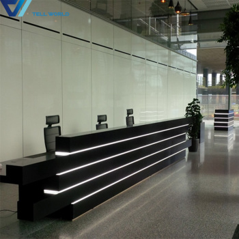White Round Information Counter, Airport Reception Desk, Airport Information Desk