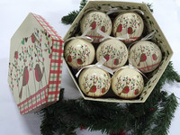 Polyfoam ball wrapped paper,Robin 1Design,crystly&frost finishing,christmas tree decoratioin