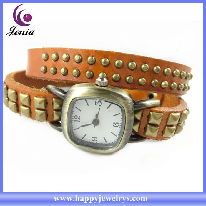 2013 HIGH QUALITY WHOLESALE CHEAP GENUINE LEATHER WATCH STRAP (PB015-3)