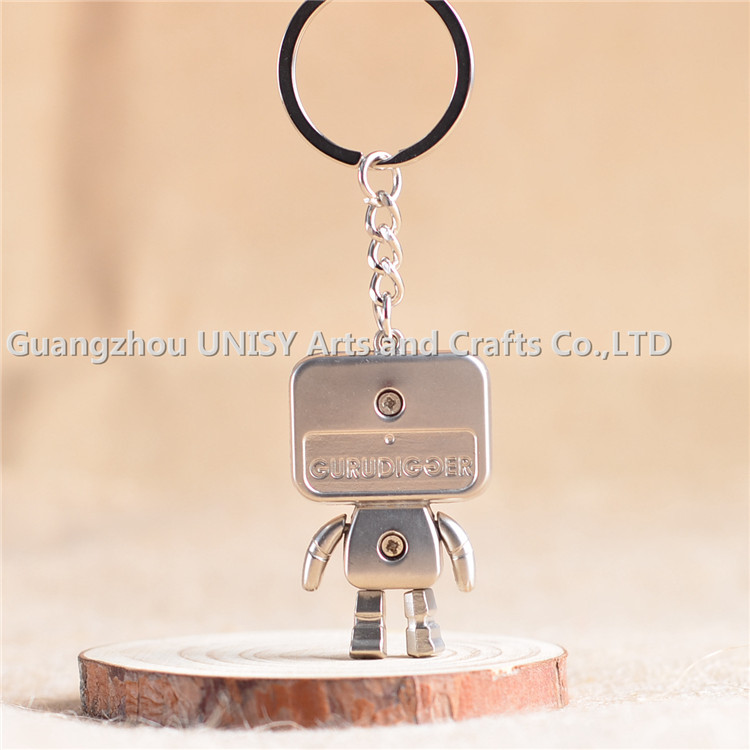 Factory directly sale Popular Robot model key chain key ring /Latest arrival custom metal robot Key Chain